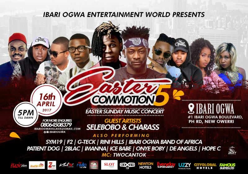 ece315e7 e7ee 4354 82ea d23cf1b4e40a - Event: Ibari Ogwa Presents Easter Commotion 5 With IllbLiss, Selebobo, Charass etc.