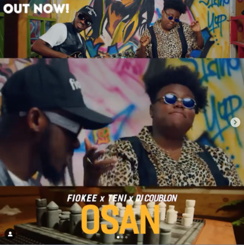Screen Shot 2020 03 13 at 12.04.58 PM - #Nigeria: Video: DJ Coublon x Fiokee x Teni – Osan (Dir By Avalon Okpe)
